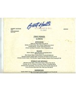 Brett Hull's Restaurant & Grill Lunch and Dinner Menus 1992 St Louis Mis... - $64.28