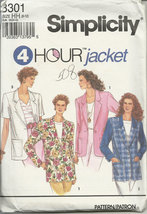 Simplicity pattern 8301 Misses Jacket with Optional lining Size 6,8,10,12 - $5.99