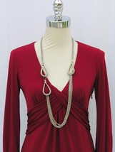 Silvertone Metal Chain Necklace. - $14.24