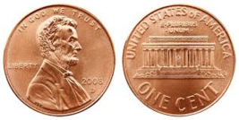 2008 d penny in large storage case - $30.00