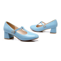 Round Last Work Thin Shoes  sky blue - $40.99