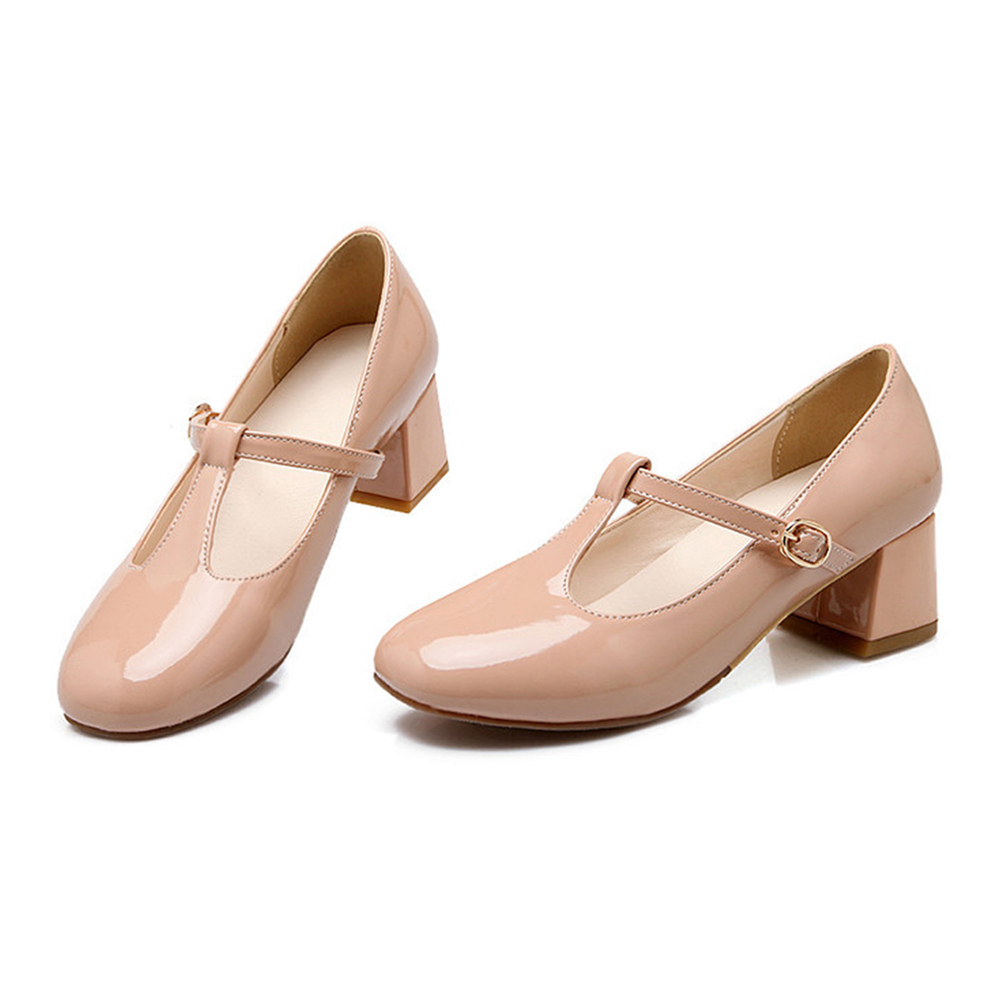 Round Last Work Thin Shoes  beige - $40.99
