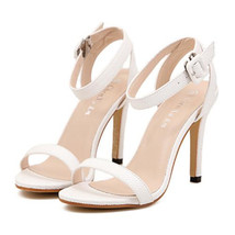 Peep-toe Open Toe Sandals Women Shoes   white - $36.99