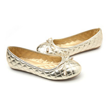 Bowknot Plus Size Mom Moccasin-gommino Flat Thin Shoes   golden - $35.99
