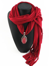 Charms Scarf jellery pendant Scarf Scarves lace Scarf - $16.99+