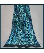 Extra Big Luxury Blue Safari Animal Print Hotel Bath Sheet Beach Towel  - $69.95