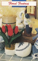 Floral Fantasy Flower Displays, Annie's Attic Crochet Pattern Booklet 87G52 - $16.95