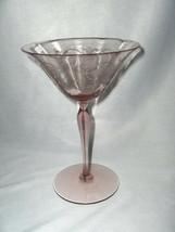 Vintage Fostoria Vernon Lavender Orchid Tall Champagne Goblet Lavender Stem - $84.15