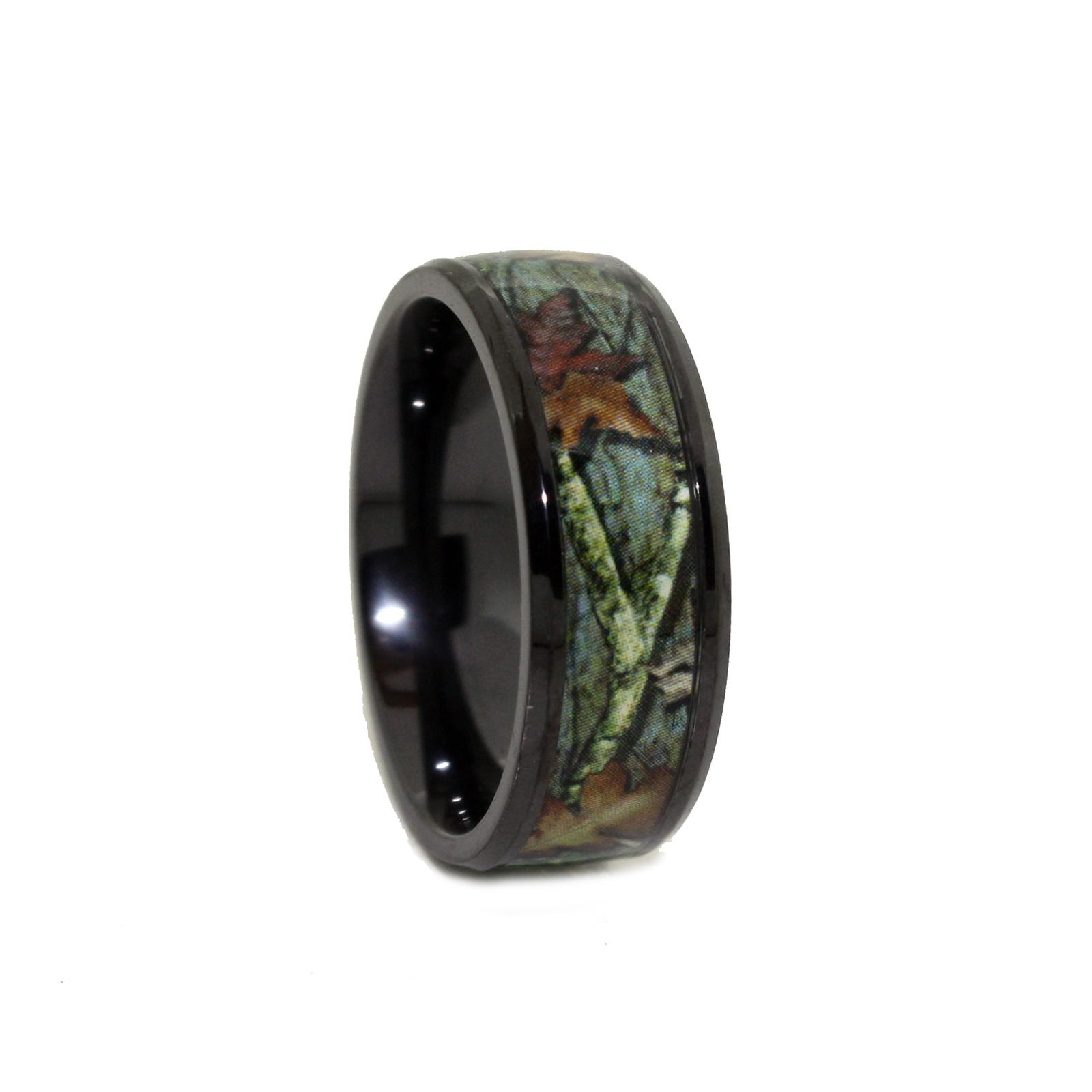 camo wedding rings black ring titanium rings