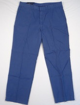 Polo Ralph Lauren Blue 100% Cotton Flat Front Casual Pants Mens 38 X 30 NWT - $92.80