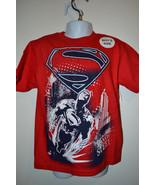 DC COMIC SUPERMAN T-SHIRT SIZE XS 4/5  S 6/7 M 8  L 10/12 XL 14/16 NWT RED - $10.39