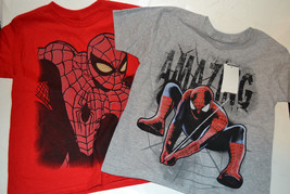 Spider-Man Boys  T Shirt     SIZE S 4  M 5/6  L 7 NWT Red or Gray - $11.24