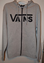 Vans  Men's Zip-Up  Hoodie Size M Nwt Gray w Black Check - $22.49