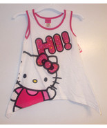Hello Kitty  GirlsTank Top  Sizes S 6/7 or M 8/10  NWT  Whte & Pink  - $7.99