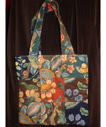 Square patch flower tote/craft bag IN STOCK - $20.00