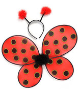 Kids dress up ladybug wings   headband costume   one size fits all   c312 thumbtall