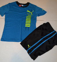 Puma Boys Toddler 2 Pcs Outfit Size 2 Tor 3 Tor 4 T Or 5 T  Nwt Blue And Black - $12.34
