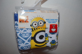 Despicable Me 2  Boys  Briefs 3 Pack Sizes  6 NIP   - $7.99