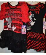 Disney Minnie Mouse  Dress or Tunic  Size 6  or 6x   NWT Black & Red - $15.99