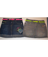 Girls Circo Denium Jean Skirts- Size S or M  Gray or Blue Jean Hearts  ... - $11.99
