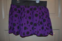 Faded Glory  Girls Skirt Size 6/6X  M 7/8  Nwt Puple Black Polka Dots - $8.79