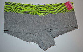 Xhileration Womens/Juniors PANTIES Boyshorts SIZE S M L NWT Gray Zebra - $3.24