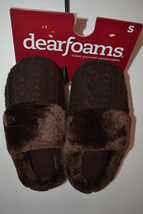 Dearfoams  Womens Slippers  Size S 5/6  NWT Sweater Coffee - $10.49