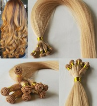20″ Hand-Tied Weft Hair, 100 grams,100% Human Remy Hair Extensions #27 - $217.79