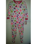Garanimals Toddler Girl's Pajama One piece Fleece Size 24M 3T NWT Hearts - $7.99