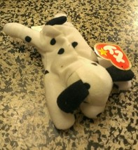 Spotty Plush Vintage Ty Mc Donald's Teenie B EAN Ie Baby Dotty The Dog - $2.48