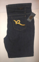 Women Junior Rocawear Jeans Boot Cut Dark Denim Embellishe R Pockets Siz... - $29.99