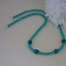 Czech Glass Beaded Necklace Accented With Lampwork Beads   FREE SHIPPING - $28.00