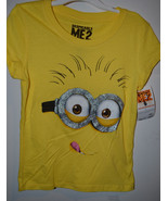 Universal Despicable Me 2 Girls Hybird  T-Shirt  Sizes XS 4/5 NWT Yellow - $7.79