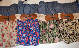 Womens JUNIORS Bongo Two Tiered Cha Cha Cha Tube Top  Size L NWT Various... - $8.99