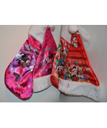 Disney Mickey Mouse or Minnie Mouse Christmas Stocking & Hat Combo  NWT - $7.99
