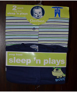 Gerber 2 pack Sleepers    SIZE 0-3  M   NWT  Blues - $7.79