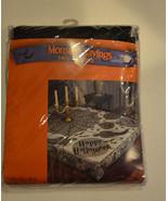 Halloween Black  Lace Table Cloth 60 X 84 NIP Happy Halloween  - $15.83