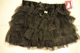 Girls Hello Kitty  Black Glittery Skirt- Tutu Size  S 6-7 Nwt  - $9.74