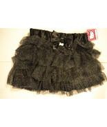 Girls Hello Kitty  Black Glittery Skirt- Tutu Size  S 6-7 Nwt  - $11.99
