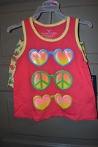 Faded Glory Girls 2 Piece  Short Set Size  NWT Hearts Peace - $6.49