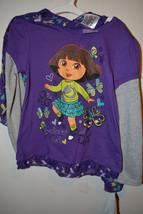 Nickelodean Dora the ExplorerTop W/Scarf Size  6x Nwt Purple Explorer Girl  - $6.82