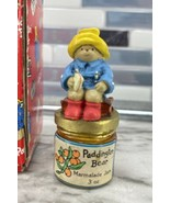 PADDINGTON BEAR Marmalade Jam/Sitting With Suitcase Thimble Sculpted Pew... - $53.41