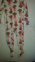 Child Of Mine Toddler Girl's Pajama One Piece Fleece Size 24M  NWT Monkey - $10.39