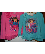 Nickelodean Dora the Explorer Top Size 4  Nwt Pink or Purple w/ Flower  - $11.19