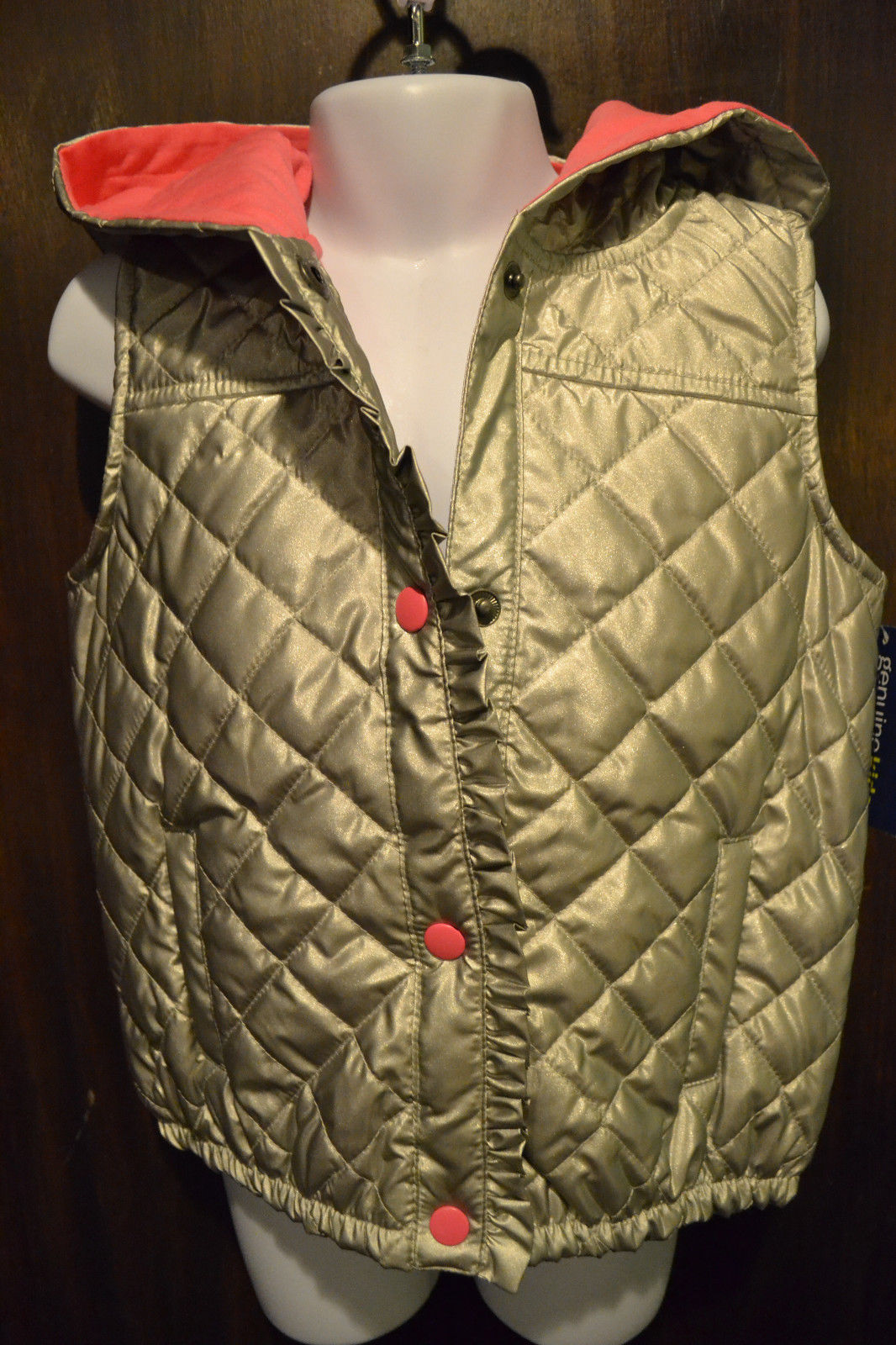 NWT Genuine Kids By Osh Kosh Girls Fur Vest 12m-18m