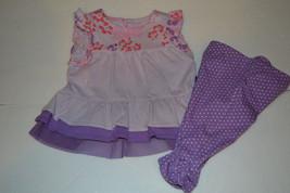 Infant  Girls Genuine Kids Osh Kosh 2 Piece Outfit Size 6M NWT Purple - $4.38+
