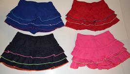 Tough Skins Infant Toddler Girls Skorts Various Sizes Red, Pink Blue, De... - $7.19