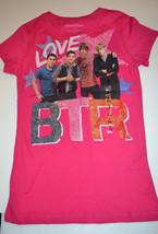 Nickelodean BTR   GirlsT -Shirt   Sizes M 10-12  NWT Pink - $4.87
