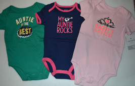 Carters Baby Infant Girls Slogan Body Suit  Size 6M  9 M 18M  NWT - $5.62
