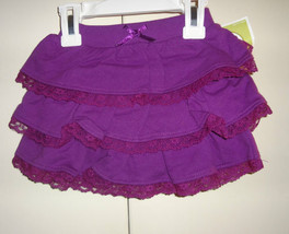 Circo Girls Infant Skirt Purple With Ruffles and Lace  Size 3M or 9M  NW... - $4.79